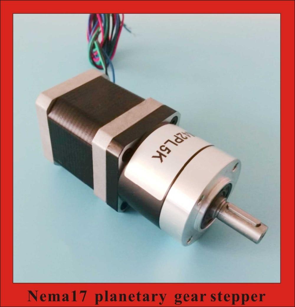 High Torque 5:1 10:1 Planetary Gearbox NEMA17 Geared Stepper Motor 48mm Body Length