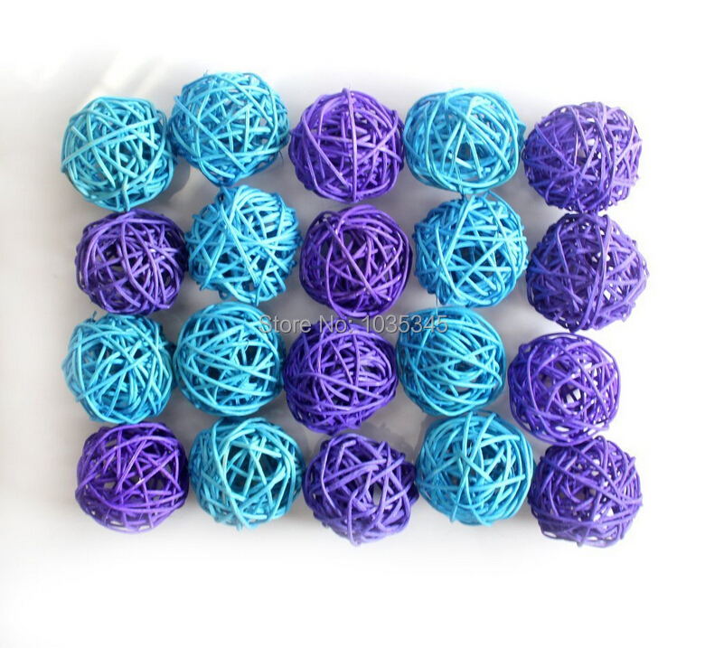 Aliexpress Buy 5CM 20pcs Blue And Purple Rattan Per Set String Lights For Wedding Party Christmas Decoration Bedroom Holiday Decor From Reliable