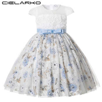 Cielarko Girls Party Dress Flower Lace Kids Princess Birthday Dresses Formal Floral Occasion Children Prom Dress for 2 11 Years - DISCOUNT ITEM  35% OFF All Category