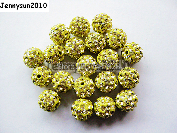 Official Website 6mm Jonquil Top Quality Czech Crystal Rhinestones Pave Clay Round Disco Ball Spacer Beads For Jewelry Crafts 100pcs Beads Pack