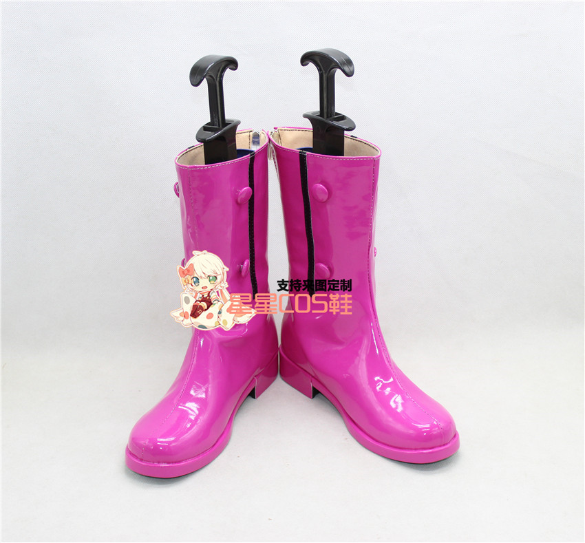 Fate Stay Night Illyasviel von Einzbern Purple Adult Cosplay Shoes Boots X002