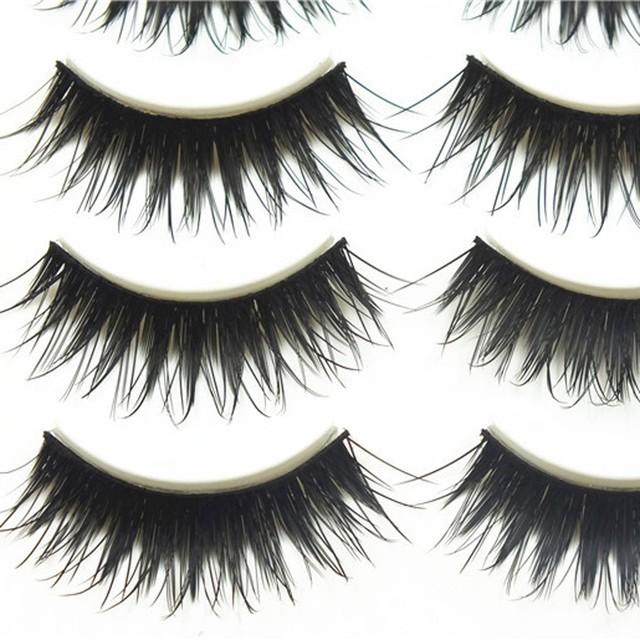 5 Pairs Natural Sparse Cross Fake Eye Lashes