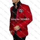 Newest Groomsmen Shawl Lapel Groom Tuxedos Pattern Jacket Solid Pants and Satin Bow tie Men Suits Wedding Best Man Blazer C64