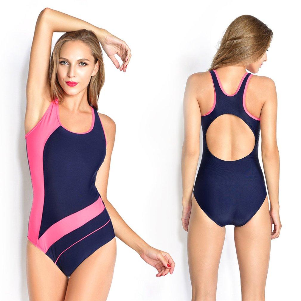Summer Swimming Suit Backless Women High Elasticity Bikini Swimwear Beachwear Swimming Pool Sports Tight Fast Dry Size S-XXL