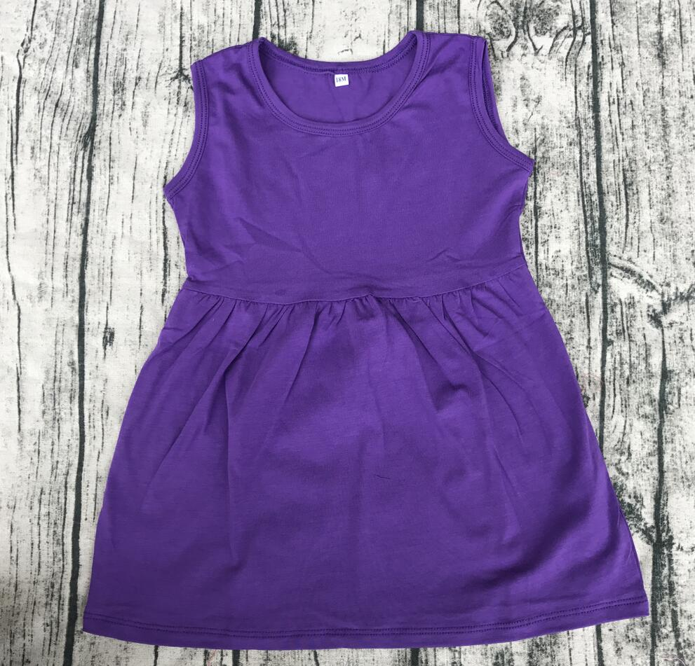 018ade449 Cute Style Baby Girls party Summer multi color sleeveless frock For ...