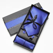 Necktie Brand New Tie Wedding Set Neck ties Polyester Brown Striped Handmade Classic Dress w Gift Box Packing