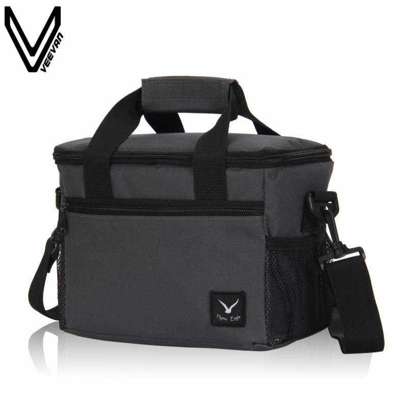 2017 New Gray Color Lunch Bag Portable Insulated Oxford Lunch Box Women First Choice Family Travel