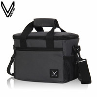 2017 neue Grau Farbe Lunchpaket Tragbare Insulated Oxford Lunch Box Frauen Erste Wahl Familie Reise Accessoires Essen Picknick Totes