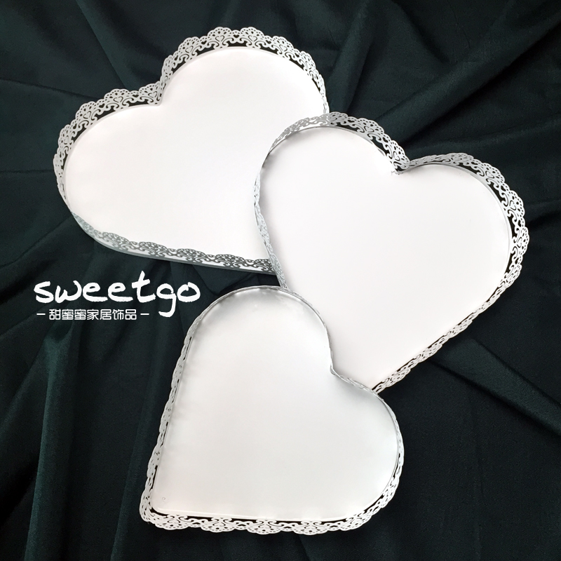 Heart shape cake stand white iron metal wedding cake tools high quality table decorator home decoration bakeware