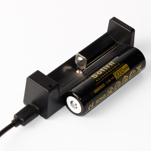 Image 2 - 3000 mAh 18650 battery with USB charger for flashlight unprotected 18650 battery