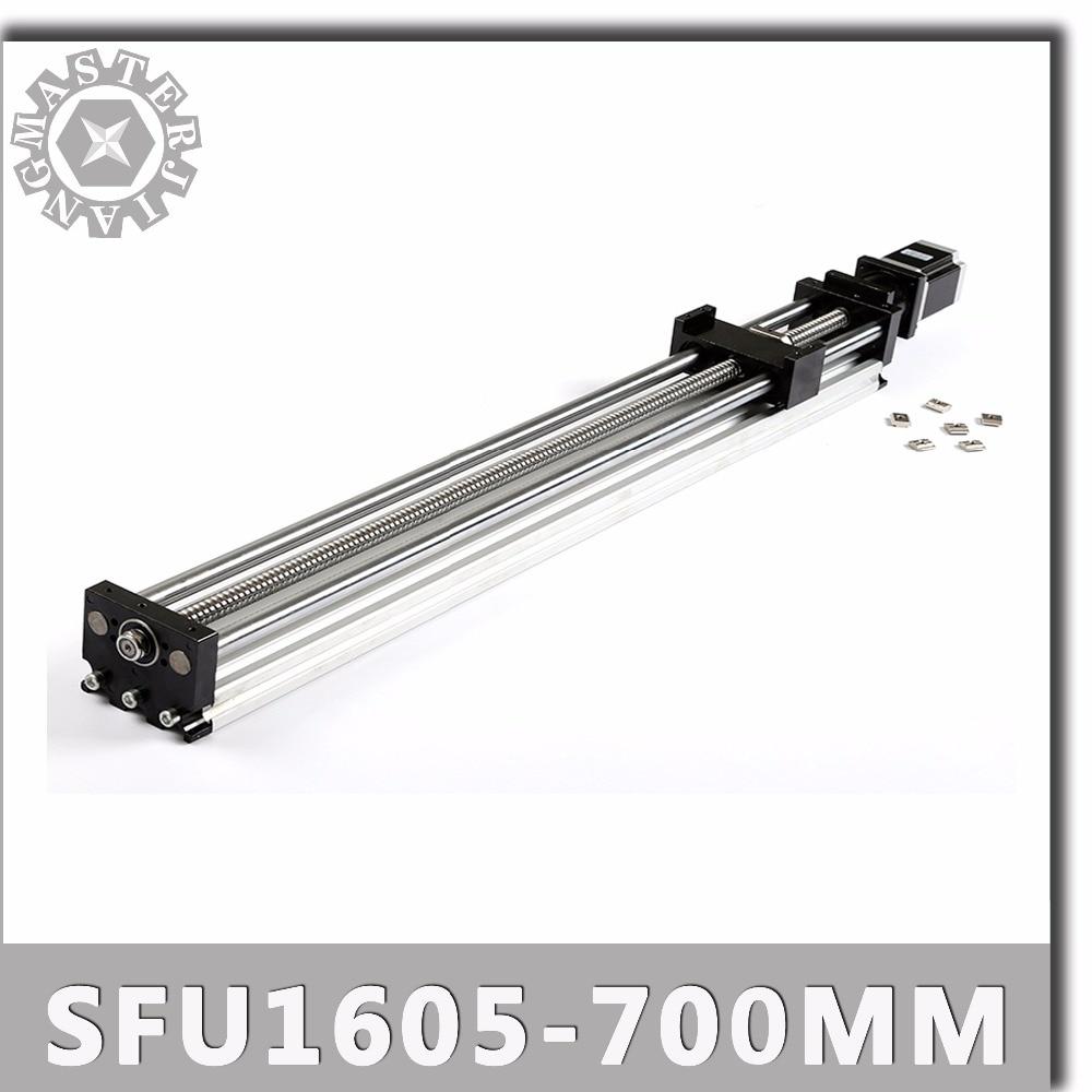 SFU1605 700mm Linear Guide Rails Linear Actuator System Module Table 700mm Travel Length Cnc Guide SFU1605