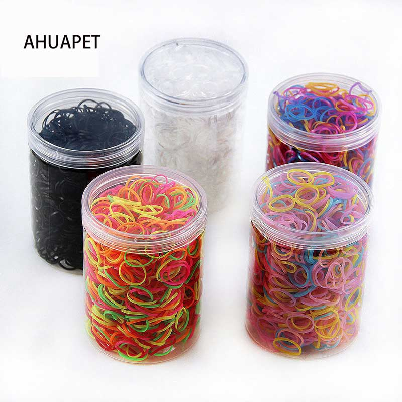 AHUAPET Hot Sale Child Baby Hair Holders 2019 New Packaging With Box TPU Rubber Bands Elastics Girls Tie Gum Hair Accessories E