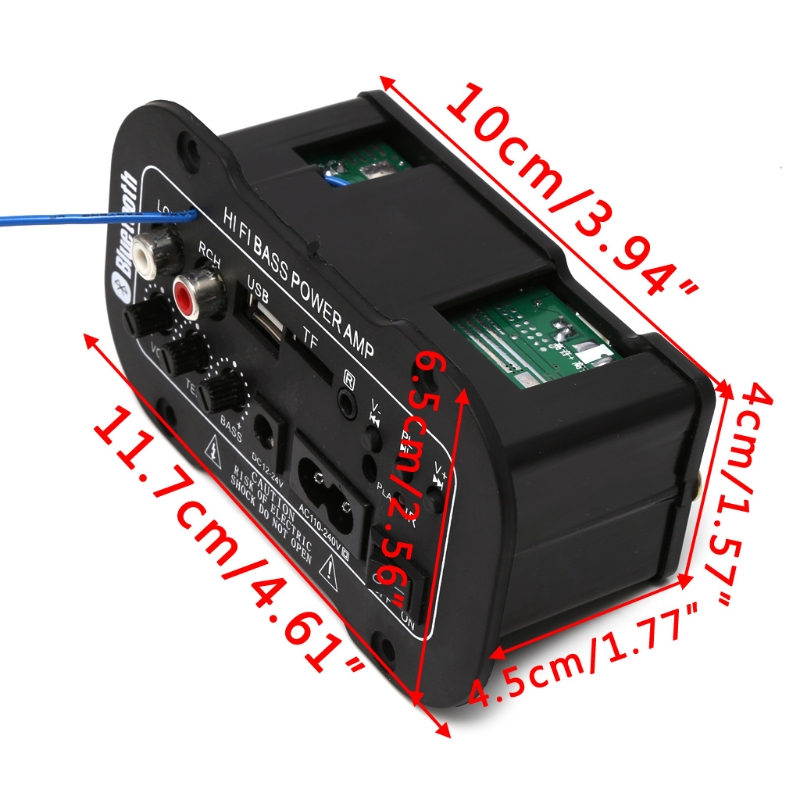 Image 5 - 25W Car Bluetooth Subwoofer Hi Fi Bass Amplifier Board Audio TF USB 220V/12V/24V-in Bluetooth Car Kit from Automobiles & Motorcycles