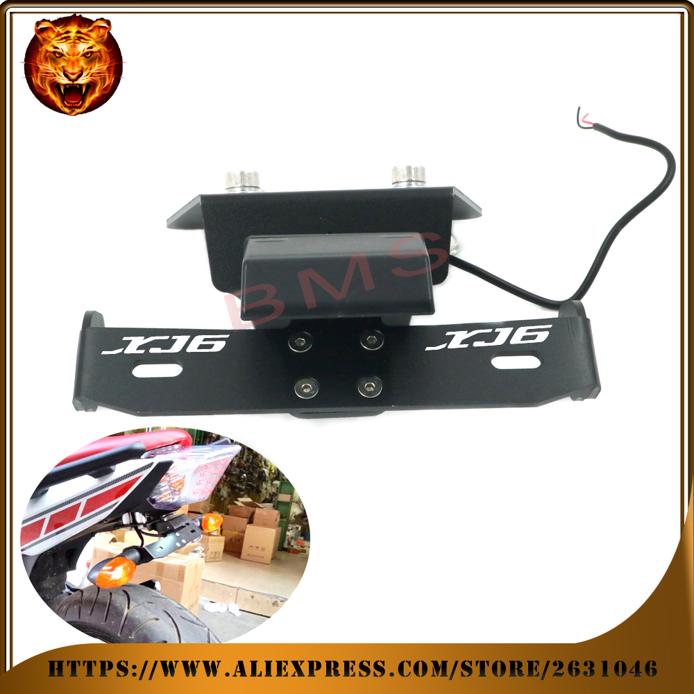 Motorcycle Fender Registration License Plate mount TailLight LED Holder Bracket For YAMAHA XJ6 DIVERSION F free shipping logo motorcycle tail tidy fender eliminator registration license plate holder bracket led light for ducati panigale 899 free shipping