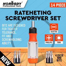HORUSDY 14 in1 Ratchet Screwdriver Set Flat Torx Screwdriver Bit Set Household General Tools Drive Tackle Portable Hand Tool Set цена
