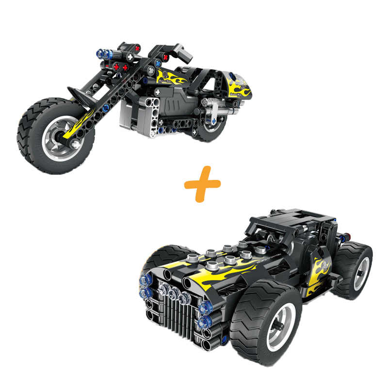 Technic Vehicle Parts Compatible Legoing Technician Racing Car Truck Suv Pull Back Motor Building Blocks Mechanic Science Toys
