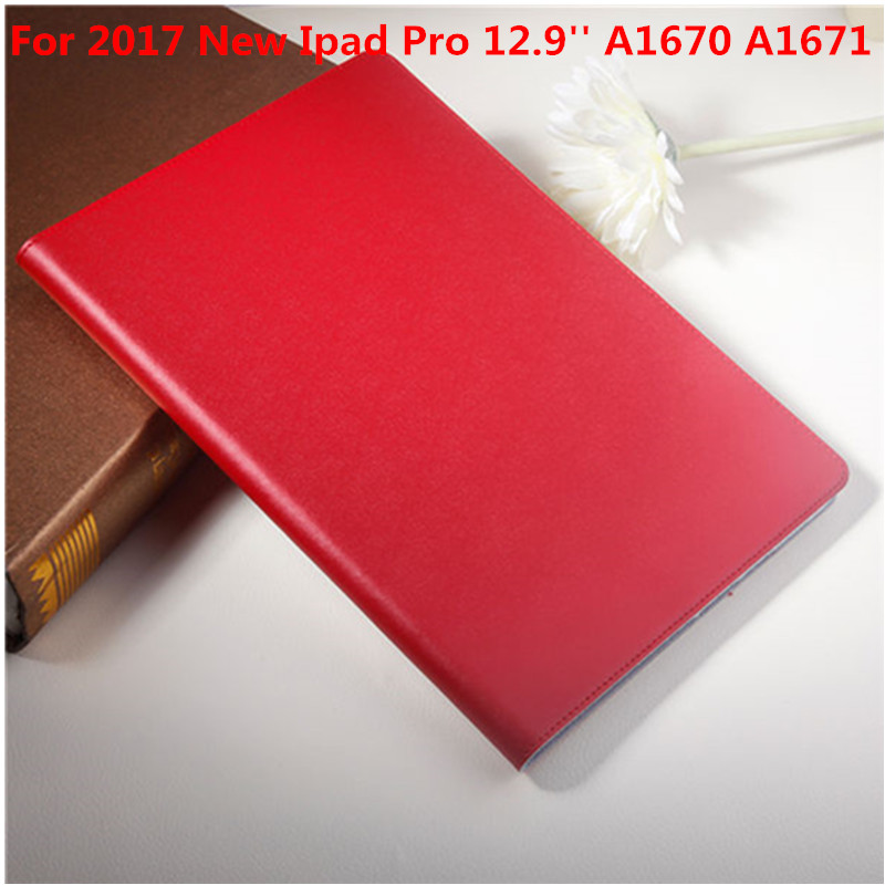Genuine Case For New iPad Pro 12.9 inch 2017 A1670 A1671 Protective cover Genuine Leather Tablet Case With Hard Plasic back back shell for new ipad 9 7 2017 genuine leather cover case for new ipad 9 7 inch a1822 a1823 ultra thin slim case protector