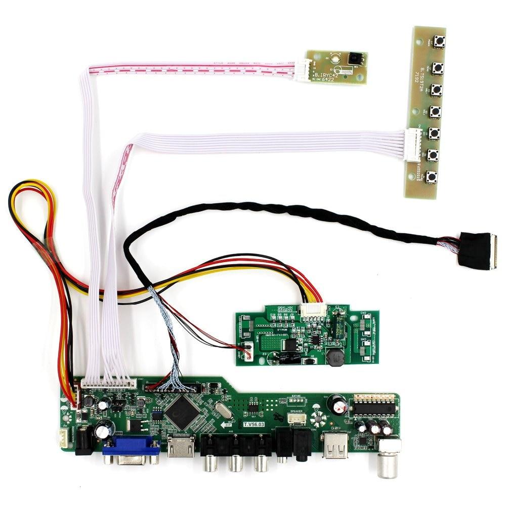 TV HDMI VGA AV USB AUDIO LCD Controller Board For 15.4 B154PW04 LP154WP2 LCD Screen vga мужской для hdmi женский выход audio tv av hdtv видео кабель адаптер конвертера