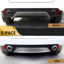 Stainless Steel Car styling rear bumper lip trim cover For Jaguar E-PACE EPACE 2018-2019