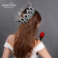 Luxury Sparkling Extra Large Round Crystal Queen Tiaras Crown Diameter 17cm Bridal Pageant Prom Wedding Party Hair Accessories
