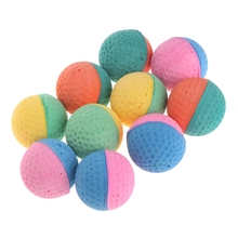 10Pcs Pet Dog Cat Toy Latex Balls Colorful Chew For Dogs Cats Puppies Kitten Cachorro Soft Elastic Ball Machine