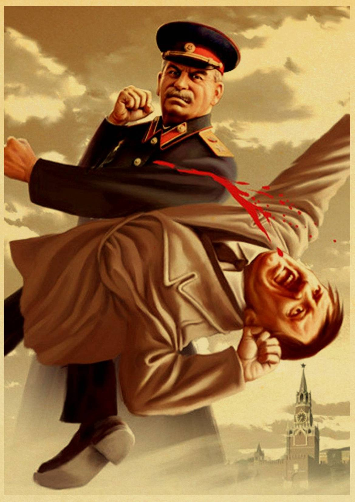 HTB1DMroX0fvK1RjSspfq6zzXFXaN Stalin USSR CCCP Retro Poster Good Quality Printed Wall Retro Posters For Home Bar Cafe Room Wall sticker