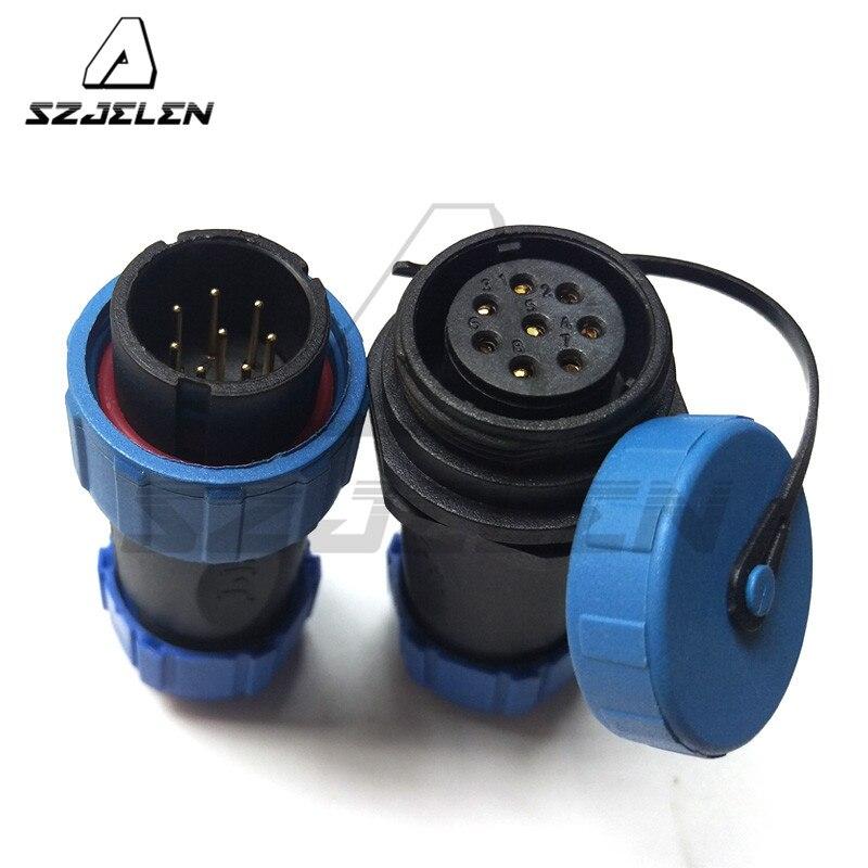 Sp2110 Sy2111 8 Pin 9pin 10pin 12pin Waterproof Connector