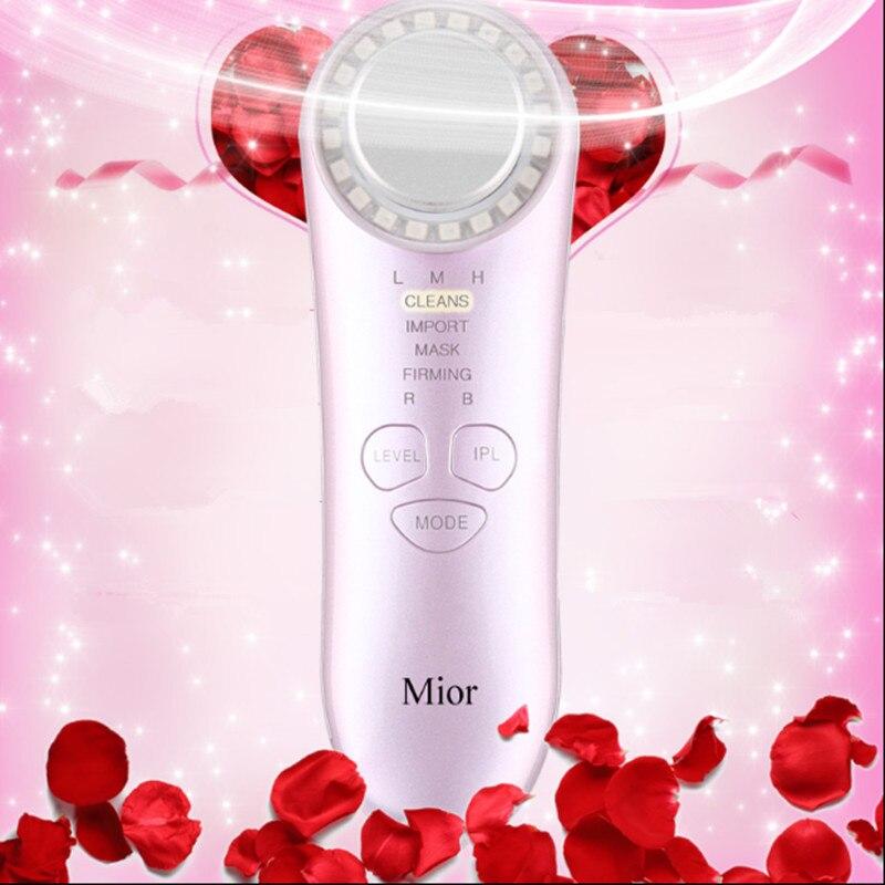 Ultrasonic Detoxification Deep Cleanser facial massage Health beauty instrument Dispel wrinkles Remove Pouch Ionic Tender skin