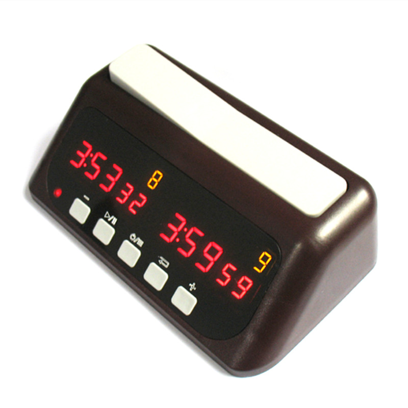 LED Digital Chess Clock Up Down Timer Built-in Rechargeable Battery Competition Game Clock dog shaped retro digital flip page gear clock 1 x d battery