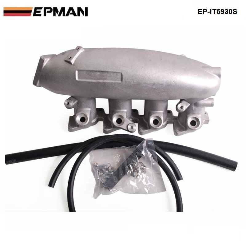 EPMAN - For Nissan SR20 S13 Cast Aluminum Turbo Intake Manifold JDM high Performance EP-IT5930S epman universal 3 aluminium air filter turbo intake intercooler piping cold pipe ep af1022 af