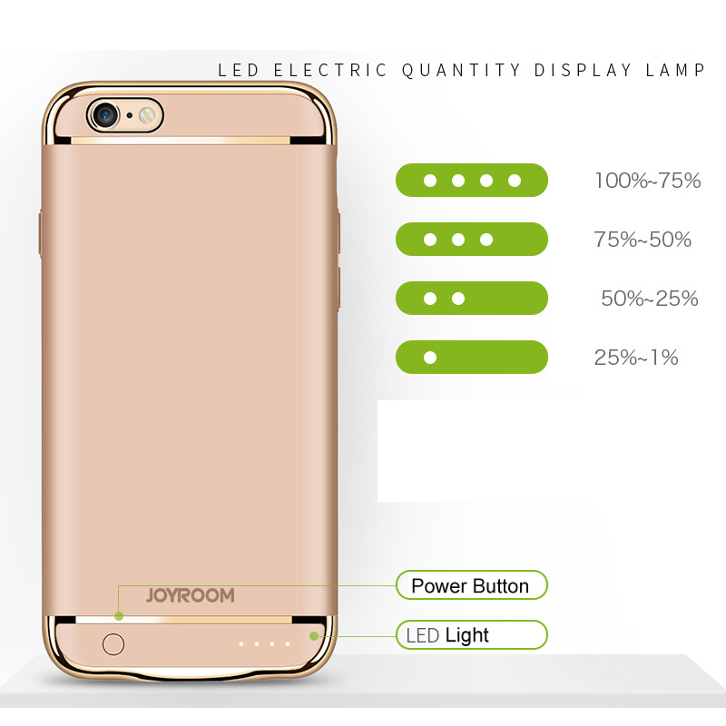 buy popular c85fc c9815 Joyroom iPhone Battery Charging Case 3500mAh - Sleek and Slim Design ...
