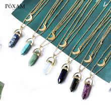 Colares de ouro natural pedra colares para mulheres vintage geométrico pingente colares link corrente gargantilha jóias presentes