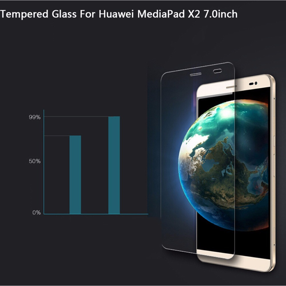 Tempered Glass For Huawei MediaPad X2 7.0 inch Screen Protector Protective Film For Huawei MediaPad X2 7.0 inch Screen Protector