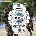Люксовый Бренд Военные Женщин Смотреть Спорт Цифровой СВЕТОДИОДНЫЙ Кварцевые Водонепроницаемые Наручные Часы С ШОК Прохладный Leopard Классические Девушки часы часы