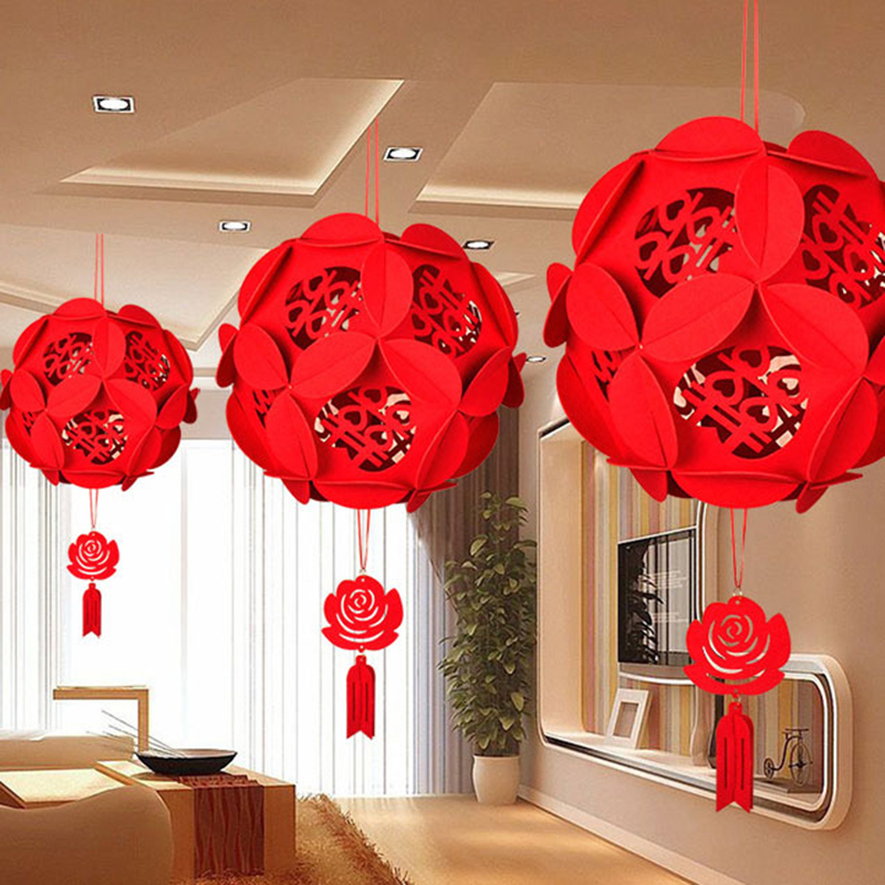 Chinese Lantern Home Decoration Accessories Hanging Lanterns Wedding Decorations New Year