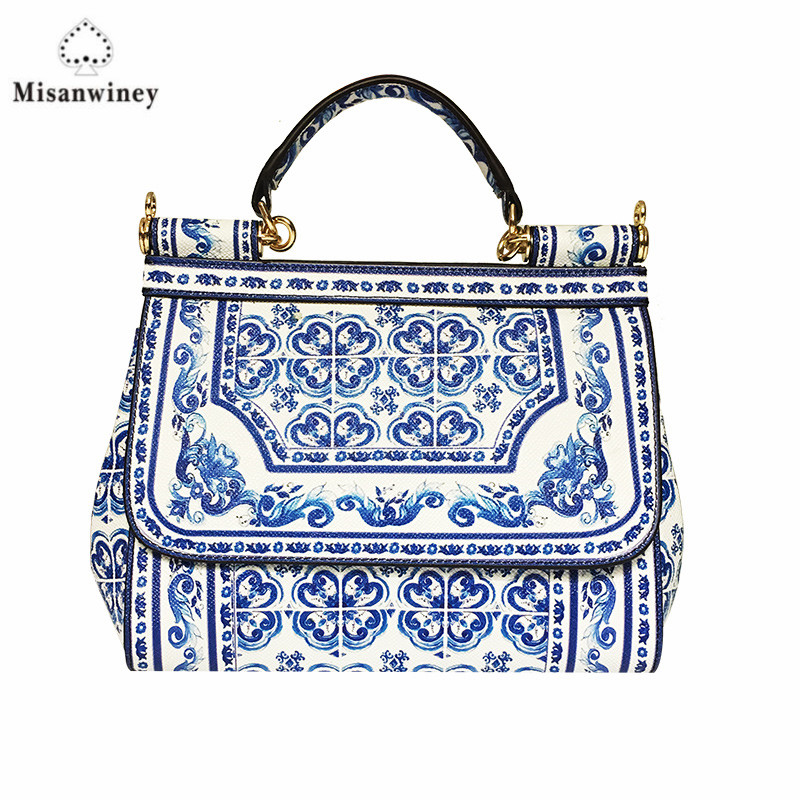 Misanwiney 2018 shoulder hand bag leather diagonal minimalist fashion leisure bag solid palm print 25cm palm print cami dress