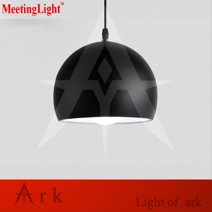 meetinglight Black/White Dia 20cm Aluminum Ball Led E27 Pendant Light for Bedside Dining Room Modern Brief Metal Pendant Lamps цена