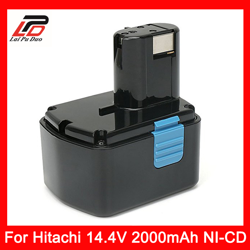 Rechargeable Power Tool Battery for Hitachi 14.4V 2000mAh NI-CD EB1414S EB14B EB1412S 324367 EB14S DS14DL DV14DL CJ14DL DS14DVF3 for bosch 24v 3000mah power tool battery ni cd 52324b baccs24v gbh 24v gbh24vf gcm24v gkg24v gks24v gli24v gmc24v gsa24v gsa24ve