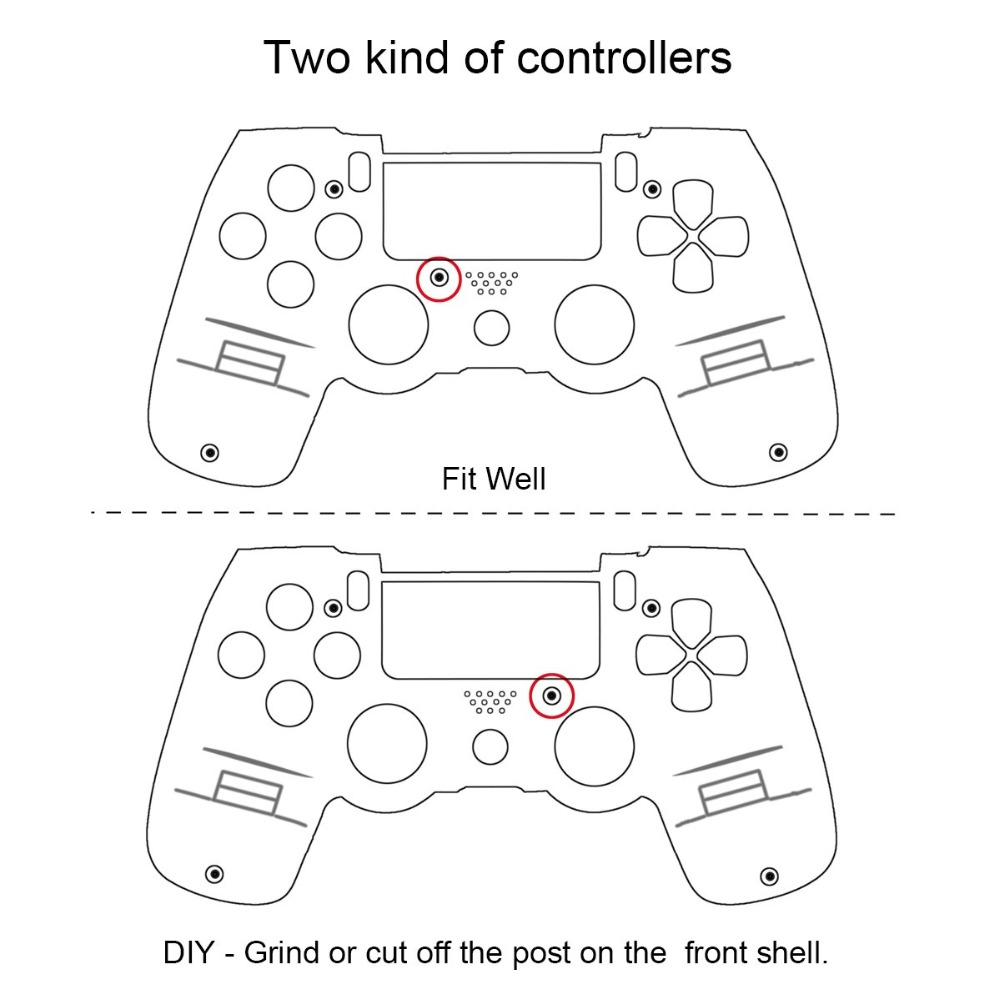 PS4 Full Housing V1 Controller Shell Case Cover Mod Kit buttons For  Playstation 4 Dualshock 4 PS 4 Replacement Transparent Clear