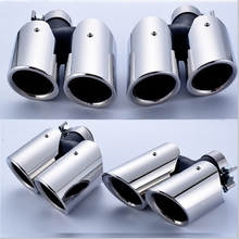 For the 11-18 Porsche Macan Cayenne Panamera four port GTS tail throat exhaust pipe modification