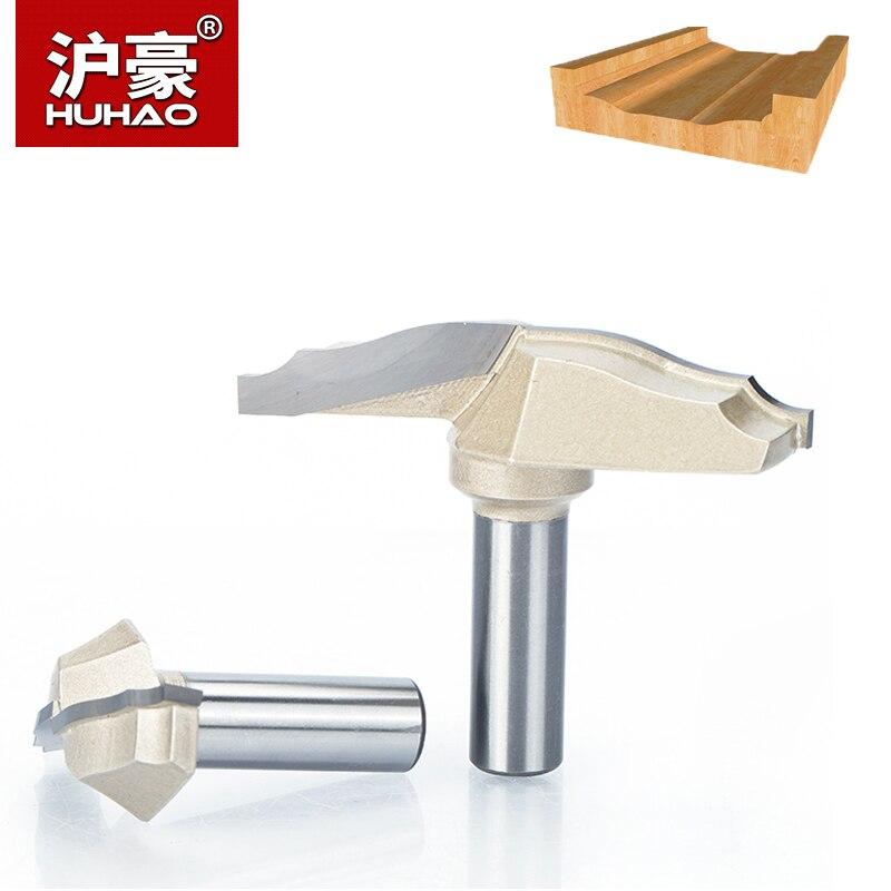 HUHAO 1 pc 1/2 Tige Trimmer Routeur Bits Pour Bois Carbure De Tungstène Placard Porte Fleurs Phoenix Couteau Core Endmill outils
