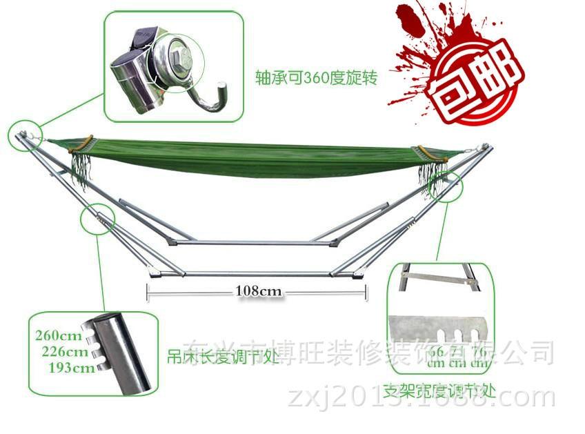 Vietnam Imported Stainless Steel Mesh Hammock Hammock Bunk Bed Folding  Shelf 150 Kg
