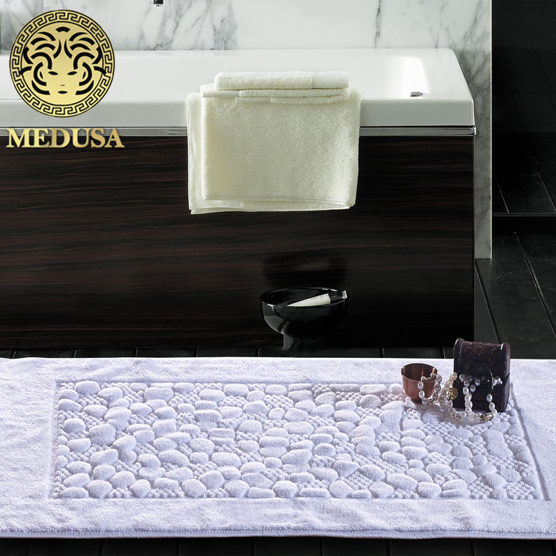 Quick Dry Non Slip Absorbent Cotton Battened Bath Mats