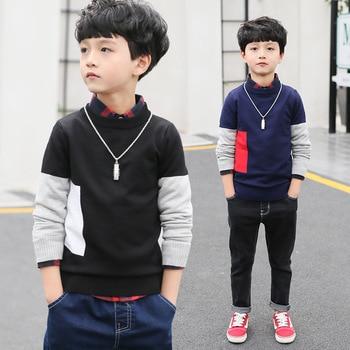2020 Fashion Boys Sweater Autumn Winter Infant Boys Outerwear Cotton Sweater Kids Sweater Children Knitwear Sweater Tops Costume фото