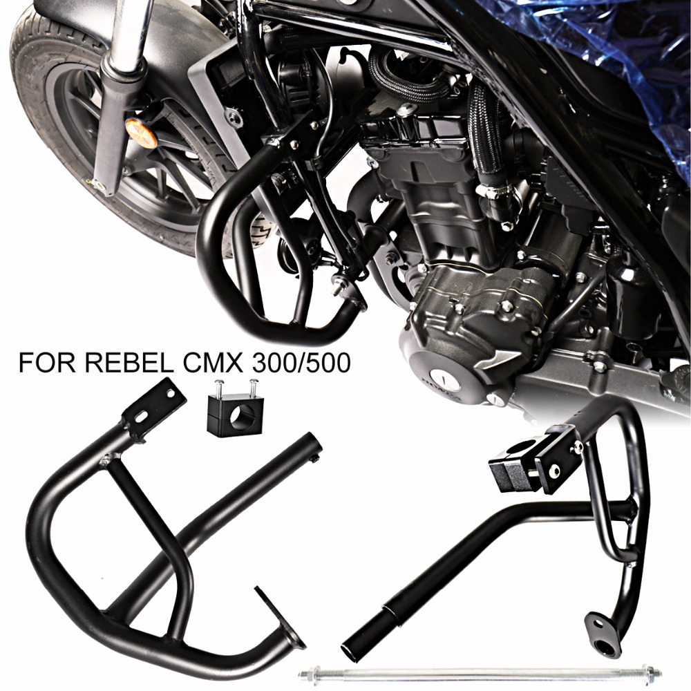 Black Engine Guard Crash Protector For 2017-2018 Rebel CMX 300 Models