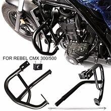 Protetor preto do acidente do protetor do motor para honda 2017-2020 rebel cmx 300 500 modelos