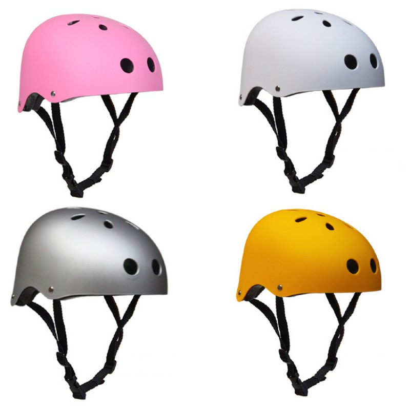 Adult Skateboard Helmet Adjustable Straps Protective Skiing Skate Bike Cycling Helmet Multi Color With Liner Outdoor Tools koston longboard skateboard scooter black skate helmet