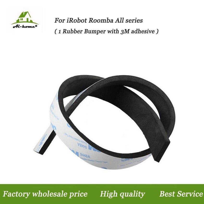 2pcs/Lot Rubber Bumper Guard Strip For Neato Ecovacs Irobot Roomba 400 500 600 700 800 900 Series 550 620 630 650 770 870 980