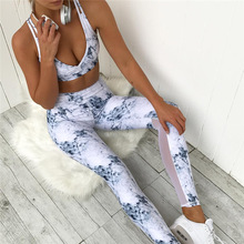 2017 New Fashion Mesh Patchwork Women Tracksuit Two Piece Set Sporting Leggings Workout Crop Top Suits
