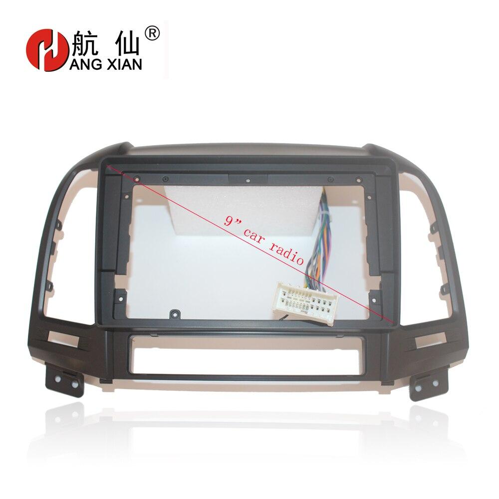 HANGXIAN 2Din Car Radio Fascia frame for Hyundai Santa Fe 2006 2012 car DVD gps Panel